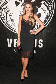 3a6c4fa7f0b90 Harley Viera-Newton Black Slip Dress, Fashion Eye Glasses, Versace Fashion,  Versus