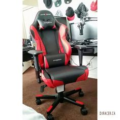 DX Racer super comfy chairs for gaming. Perfect for battlestations, workspaces, and gaming rigs.  Source: https://www.flickr.com/photos/dxracer_ca/