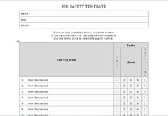 Job Safety Analysis Form Template Amusing Excel Calendar Template  Excel Templates  Pinterest  Template