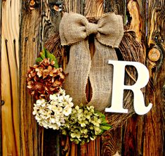 Chocolate, cream, and green hydrangeas come together to give this wreath a neutral look that would compliment almost any homes exterior. This