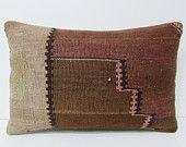 16x24 cream kilim pillow brown throw pillow lumbar decorative pillow bohemian throw pillow kilim ottoman large floor cushion lumbar 24823