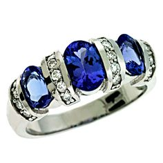 Israel Diamond Official Website  Tanzanite and Diamond ring. Available in white or yellow gold.   http://israeldiamond.com/?page=detail=C5727-TWG#