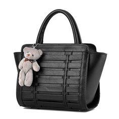 7ff2ea7c514 Ladies Cute Bear Weave Casual Large Capacity Handbag Elegant Leisure Shoulder  Bag