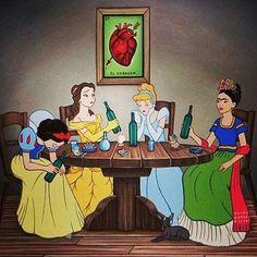 Y Frida les habló del amor a las que esperaban a su príncipe azul...