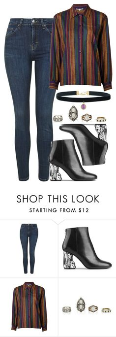 """""""Untitled #4385"""" by style-by-rachel ❤ liked on Polyvore featuring Topshop, Acne Studios and Yves Saint Laurent"""