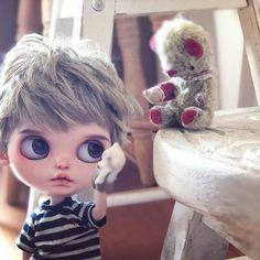 ✨noiとmaki✨ #noisedoll#guu3kumanami#blythe#blytheoutfit#blythecustom#doll#dollclothes#blythedoll#dollphoto#dollstagram#instadaily#boyblythe#blytheboy#harusya#ドール#アウトフィット#ブライス#手作り#テディベア