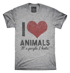 Love Animals Hate People T-Shirts, Hoodies, Tank Tops
