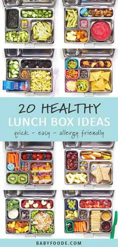 These 20 Healthy Lunch Box Ideas for Kids are filled with real-life lunches that my kids loved! Great for daycare, preschool or elementary school aged kids! Kids Lunch For School, Healthy Lunches For Kids, Healthy School Lunches, Toddler Lunches, Lunch Snacks, Kids Meals, Lunch Ideas For Teens, Preschool Lunch Ideas, Lunch Boxes For Kids