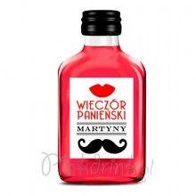 ETYKIETA personalizowana na mini wódkę Usta Wąsy