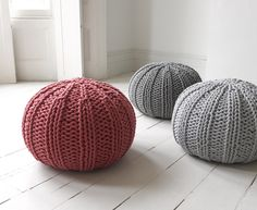 Loaf - Our Bug pouffe is not only cute but also a hardy friend, great for feet, bums and children to leap from! The Bug is available in three gorgeous colours. Young Mans Bedroom, Knitted Pouffe, My Ideal Home, Comfy Sofa, Home Trends, Soft Furnishings, Hand Knitting, Knitting Wool, Crochet Projects