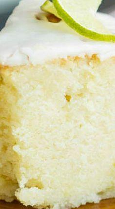 Scratch Made Key Lime Pound Cake Recipe with Key Lime Glaze