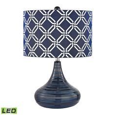 Peebles Lamps - 15x15x21 / D2519-LED / Blue / Silk