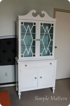 Refinished and Repurposed China Hutch - could be great for storage and display