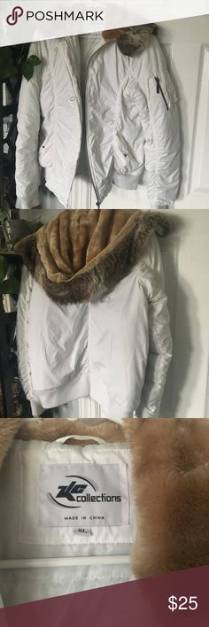 Winter Puffy Down Coat Puffy women's down cost with fur trim hood. Super warm. Jackets & Coats Puffers