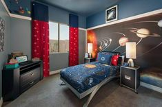 space themed bedroom curtains