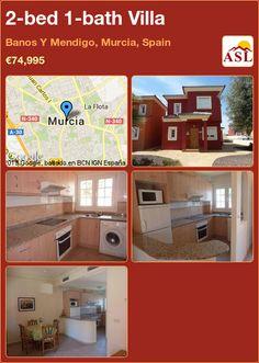 2-bed 1-bath Villa in Banos Y Mendigo, Murcia, Spain ►€74,995 #PropertyForSaleInSpain