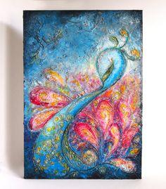 Flourish  Large Acrylic Original Texture Painting on by ChingTeoh, $400.00