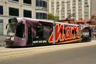 bus with Mars ad - Bankwest in St.Kilda Road