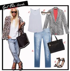 Get the look online / jeans / animal print / basic and stylish / fashion post