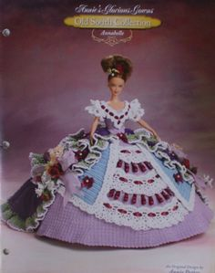 Annie's Attic Old South Glorious Gown Annabelle Crochet Bed Doll Pattern