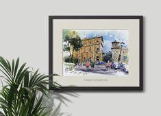 Original urbanskecth watercolor and ink of Rome, Beautiful Trastevere. He's Beautiful, Beautiful Artwork, Cool Artwork, Ink Painting, Watercolor Paintings, Paper Dimensions, Urban Sketching, Watercolor And Ink, Paper Size