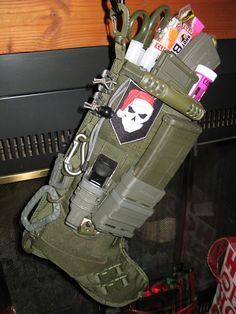 Tactical Christmas Stocking!!!!!!! Idea for me for next Xmas, no more chocolates and BS tinker crap... need GUN STUFFS
