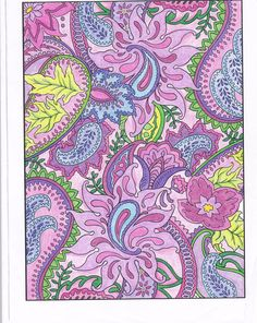 LeAnn Kershner from Paisley Designs Coloring Book. Publications onto Soft and Pretty Pastels coloring contest entrie Paisley Art, Paisley Design, Paisley Pattern, Art Nouveau, Mandala, Typography Art, Coloring Book Pages, Textiles, Paper Background