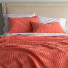Dottie Coral Bed Linens - accent quilt