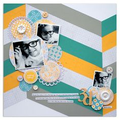 Layout by Lisa Dickinson using Lily Bee Design Buttercup collection #lilybee #lilybeedesign #scrapbook