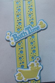 Yep, I had these die cuts to use up. The bubble punch from CM. Papers are powder blue and lemon (that is what the die cut was made from, so I matched it) Baby Scrapbook Pages, Scrapbook Borders, Kids Scrapbook, Scrapbook Embellishments, Scrapbook Sketches, Scrapbooking Layouts, Scrapbook Cards, Creative Memories, Paper Crafts
