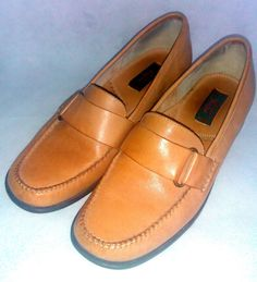 BASS Shoes ~ Golden Tan Honey Cecilia Loafers / Weejuns ~ Size 8 - 8.5 M B  #Bass #LoafersMoccasins