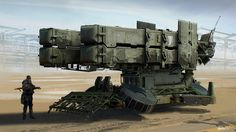 ArtStation - Hover Missile Battery, James Cheong