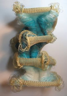sculptural knitted creation by Iris Arad