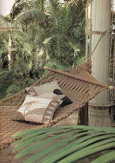 macrame hammock by elizabethcake, via Flickr