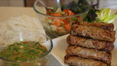 Nem rán - Vietnamské jarní závitky Raw Vegan, Vegan Vegetarian, Vietnamese Recipes, Vietnamese Food, China Food, Food And Drink, Salad, Meat, Chicken