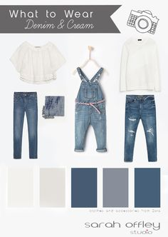 Hello... We continue with our what to wear guides for a family session and today's guide is for denim and cream. A very simple but visually effective style which I