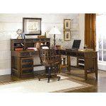 Mercantile 6-Piece Credenza Desk Office Suite