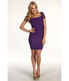 Jessica Simpson Gathered Exposed Zipper Dress Loganberry - 6pm.com