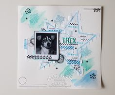 Mixed media lay out. made by patricia