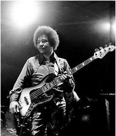 Band of Gypsy's Bass Man Billy Cox. Along with drummer/vocalist Buddy Miles and guitarist/vocalist Jimi Hendrix, Band of Gypsy's was one of the greatest musical synergies of all time (to me) and still my favorite musical period of Jimi Hendrix (rip).