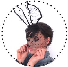 DIY Bunny ears with polka dot lace. Very frenchy...love it.