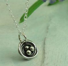 Petite Nest Necklace  sterling silver necklace by KathrynRiechert, $28.00