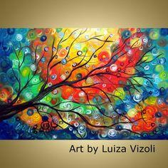Beautiful! Original Modern Fantasy Contemporary Tree Landscape by LUIZAVIZOLI