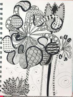 #wildflowers #doodle #zentangle