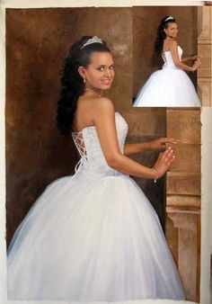 Photo To Oil Painting, Realistic Oil Painting, Best Portraits, Couple Portraits, Corporate Portrait, Painting People, Portrait Photo, One Shoulder Wedding Dress, Hand Painted