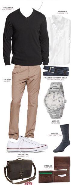 Un pantalón beige va con todo y funciona para cualquier temporada