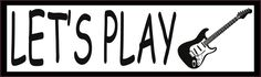StickerTalk® Brand 10in x 3in Lets Play Electric Guitar Rock Music Magnet Magnetic Vehicle Sign