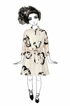 Rose printed silk dress by Pale Cloud for fall 2015 kids fashion previewed at Pitti Bimbo 80