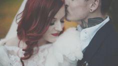 Couple Shots // Bride & Groom // Red Hair // Tattooed Groom // Christmas Wedding