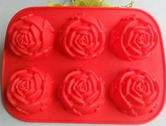 Forma de silicone decorada flor